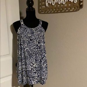 Xl cable and gauge sleeveless top